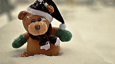 Gambar Wallpaper Teddy Bear Pakai Topi