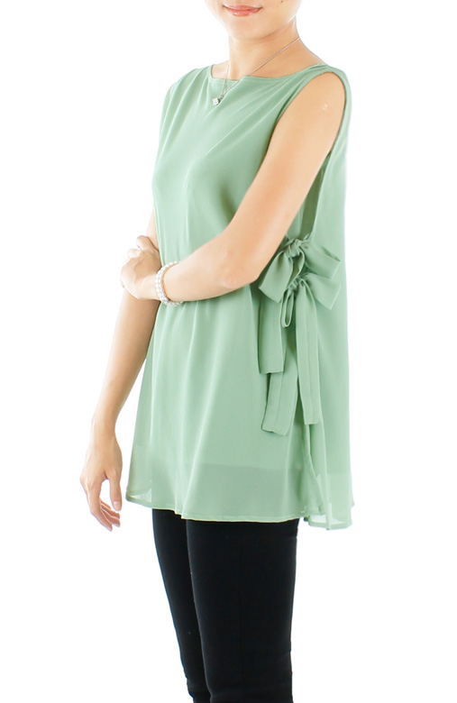Spring Ribbon Sleeveless Blouse