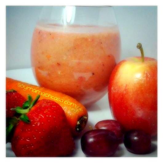 receta facil de licuado de frutas