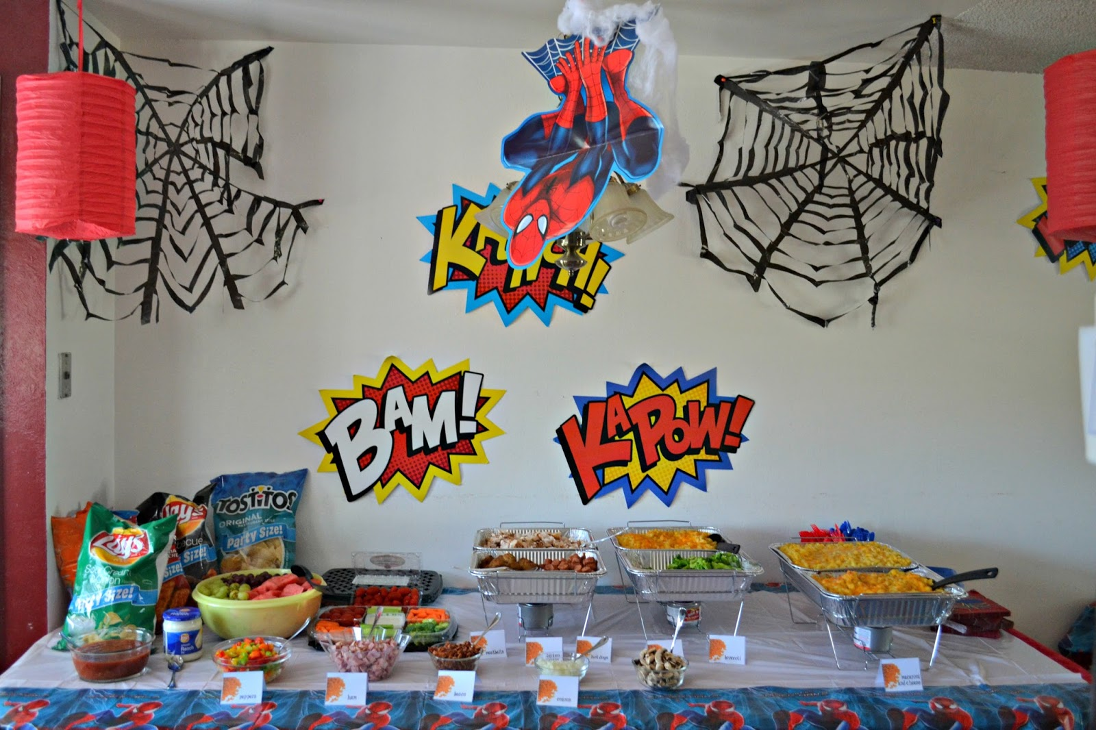 Spiderman Birthday Decoration Image Inspiration of Cake and