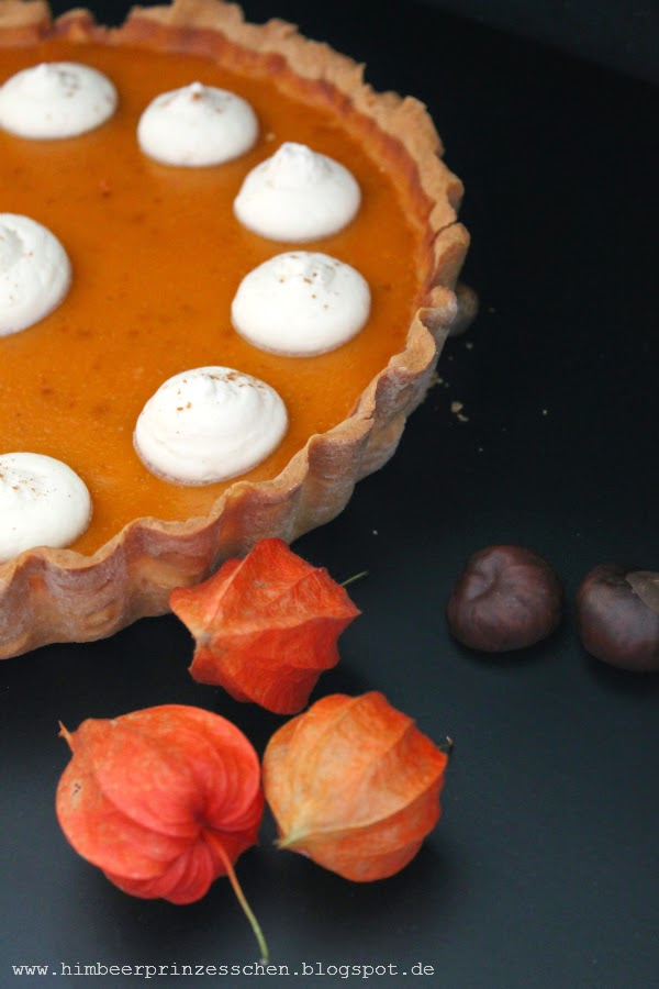 Pumpkin Pie Himbeerprinzesschen Kürbis Kuchen Foodblog Lampionblüten Kastanien