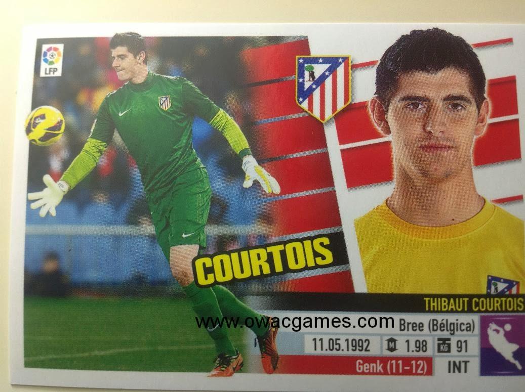 Liga ESTE 2013-14 Atl. de Madrid - 1 - Courtois