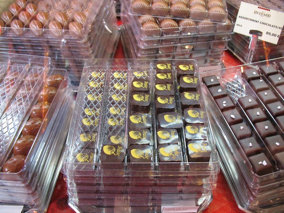 delicious chocolates at Hédiard, Paris