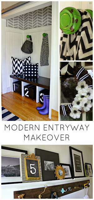 modern entryway makeover