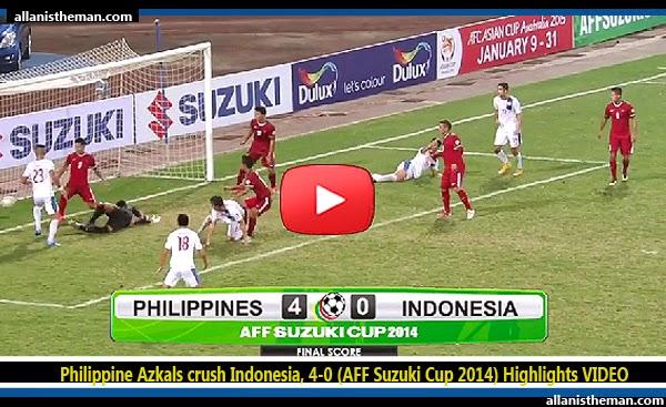 Philippine Azkals crush Indonesia, 4-0 (AFF Suzuki Cup 2014) Highlights VIDEO