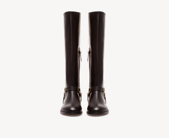 Zara leather riding boot