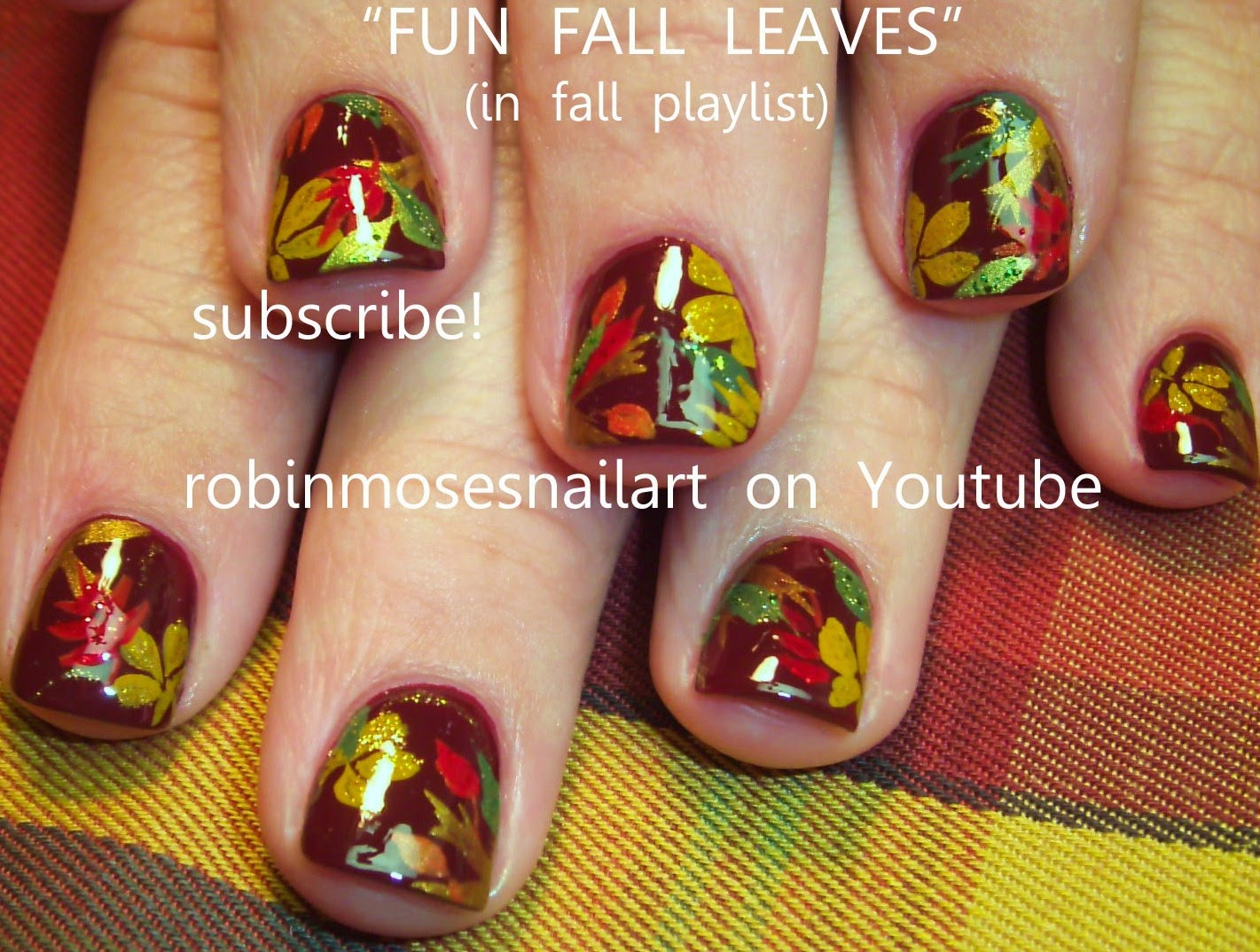 robin moses nail art fall leaves fall nails glowing