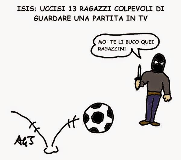 Isis, satira, vignetta