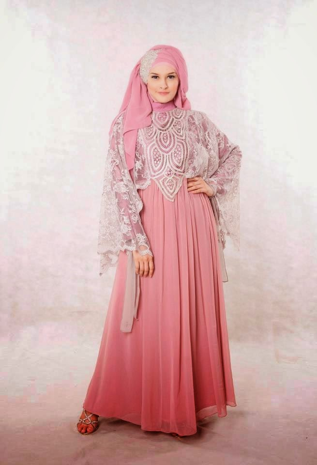 Model Trend Gaun Pesta Muslimah Modern Sifon