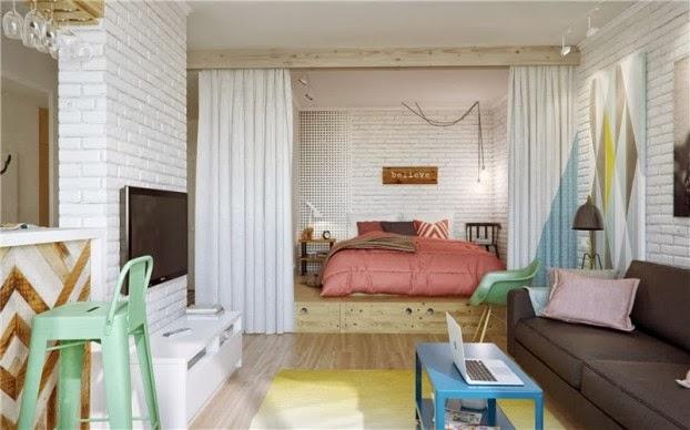 scandinavian colour apartment living room