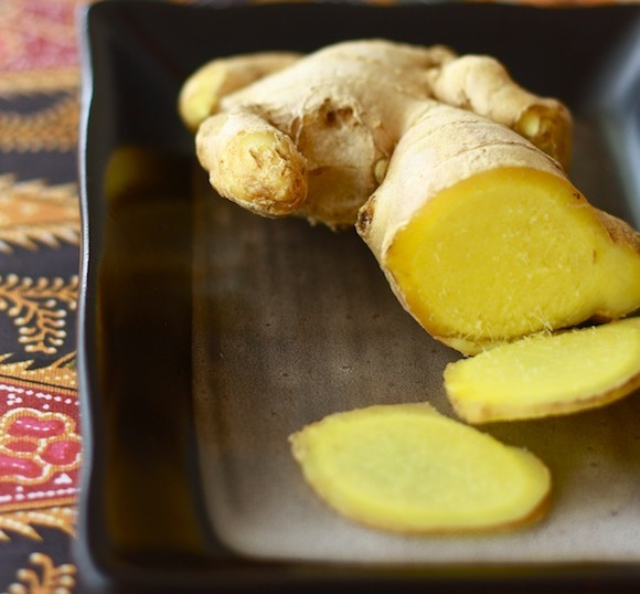Fresh ginger for making cocktails