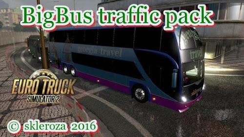 ETS2 Mod - Grandes Ônibus Para o Tráfego V.1.5.5 Para V.1.26.X By: Skleroza