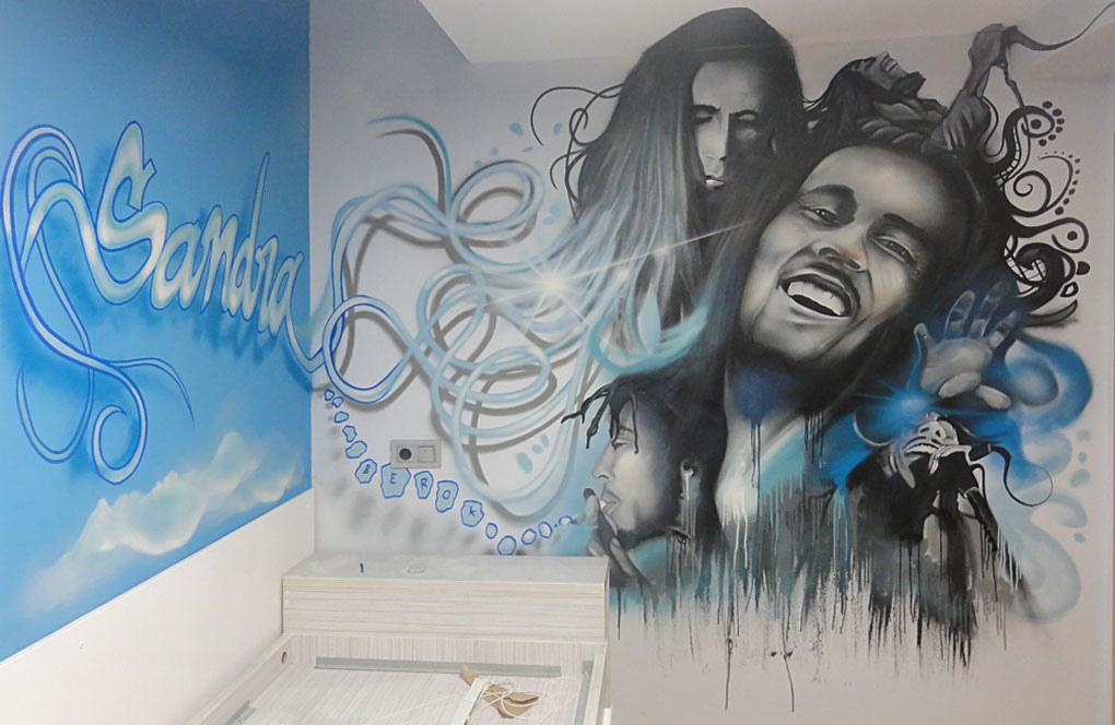 Bob Marley Mural Graffiti