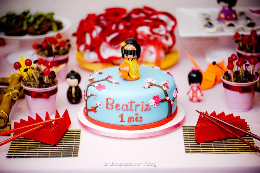 decoracao festa kokeshi:Festa infantil de 'mesversário' : Bonecas Kokeshi