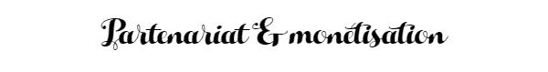 Partenariat et Monétisation blog mademoiselle latinne