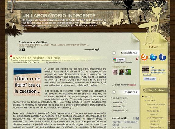 Un Laboratorio Indecente: Experiencias literarias de José Martín Molina