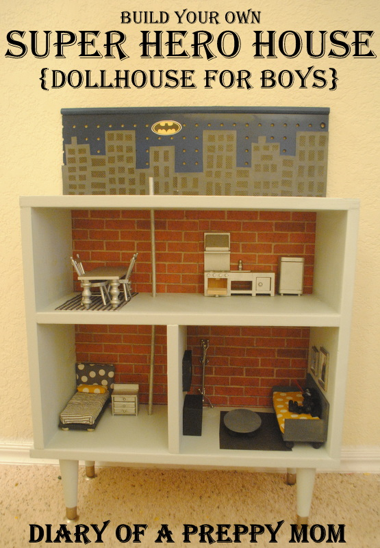 Preppy Mom DIY Dollhouse Furniture on the Cheap