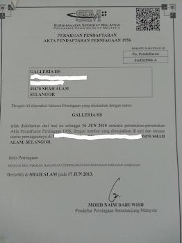 Sijil pendaftaran SSM