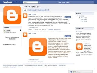 Facebook style v.2.3 Blogger Template