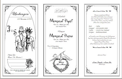 Gambar diatas adalah sebuah contoh undangan pernikahan yang dibuat