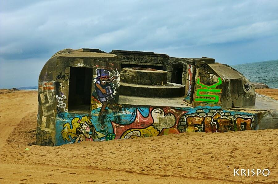 bunker semienterrado en playa de labenne las landas