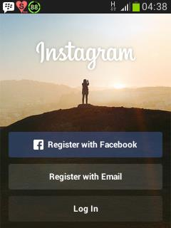 Mendaftar di Instagram