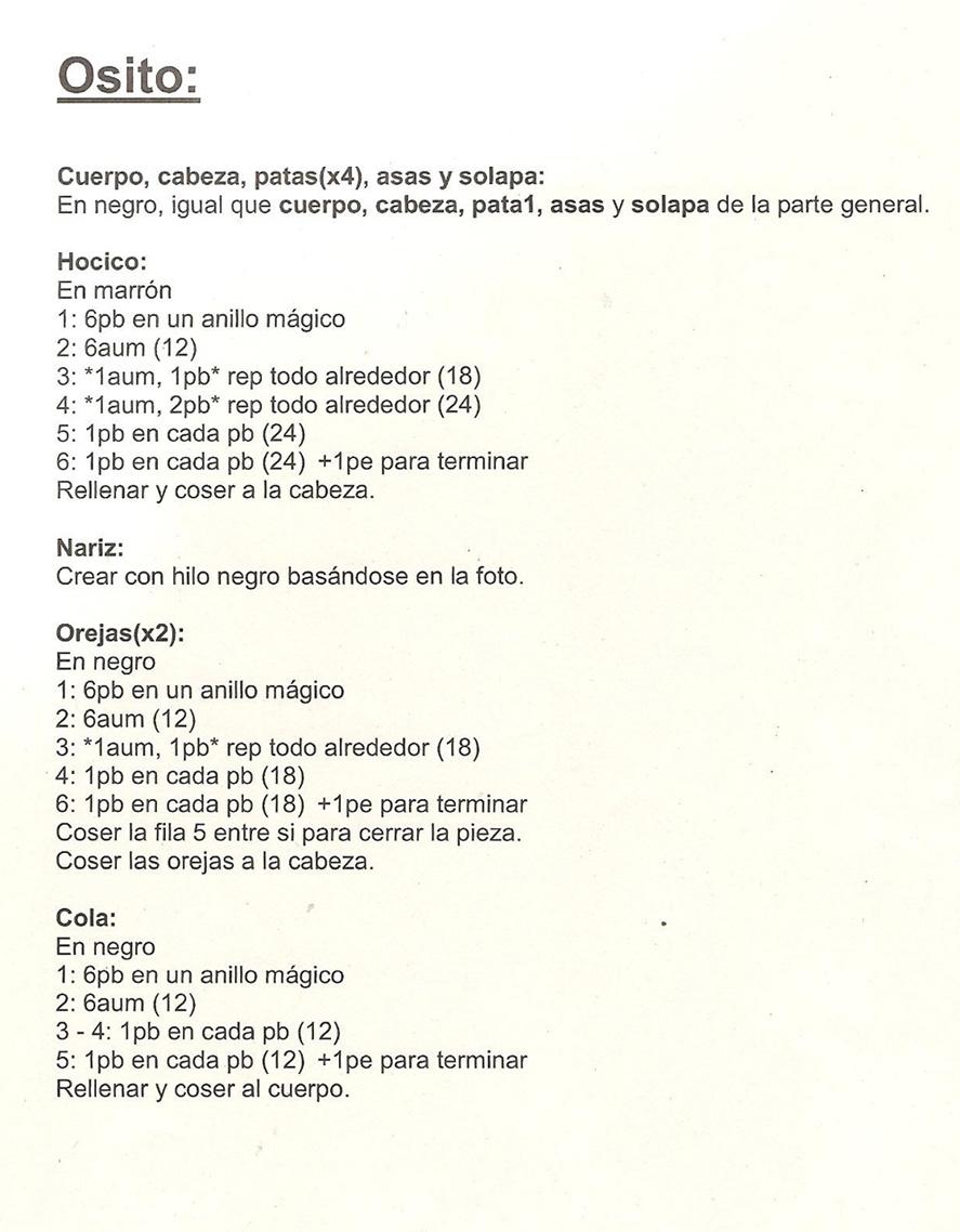 patrones asgaya: BOLSO OSITO A CROCHET
