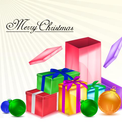 Regalos navideños - Vector