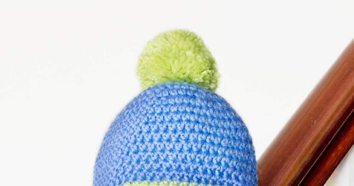 Crochet Newborn Pom Pom Hat Pattern : Hopeful Honey Craft, Crochet, Create: Baby Pom Pom Hat ...