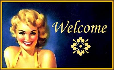 banner retro chica pin up años cincuenta
