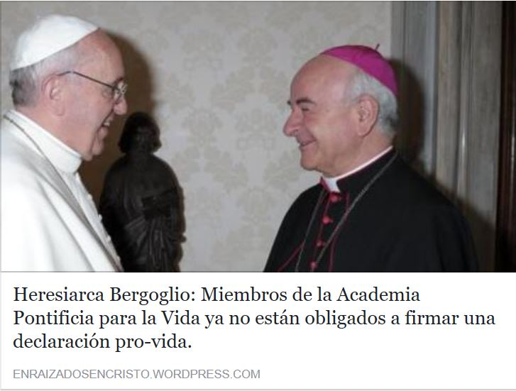 Bergoglio ha vaciado de su contenido católico a la academia pontificia para la vida