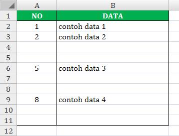 Cara membuat nomor otomatis pada Excel