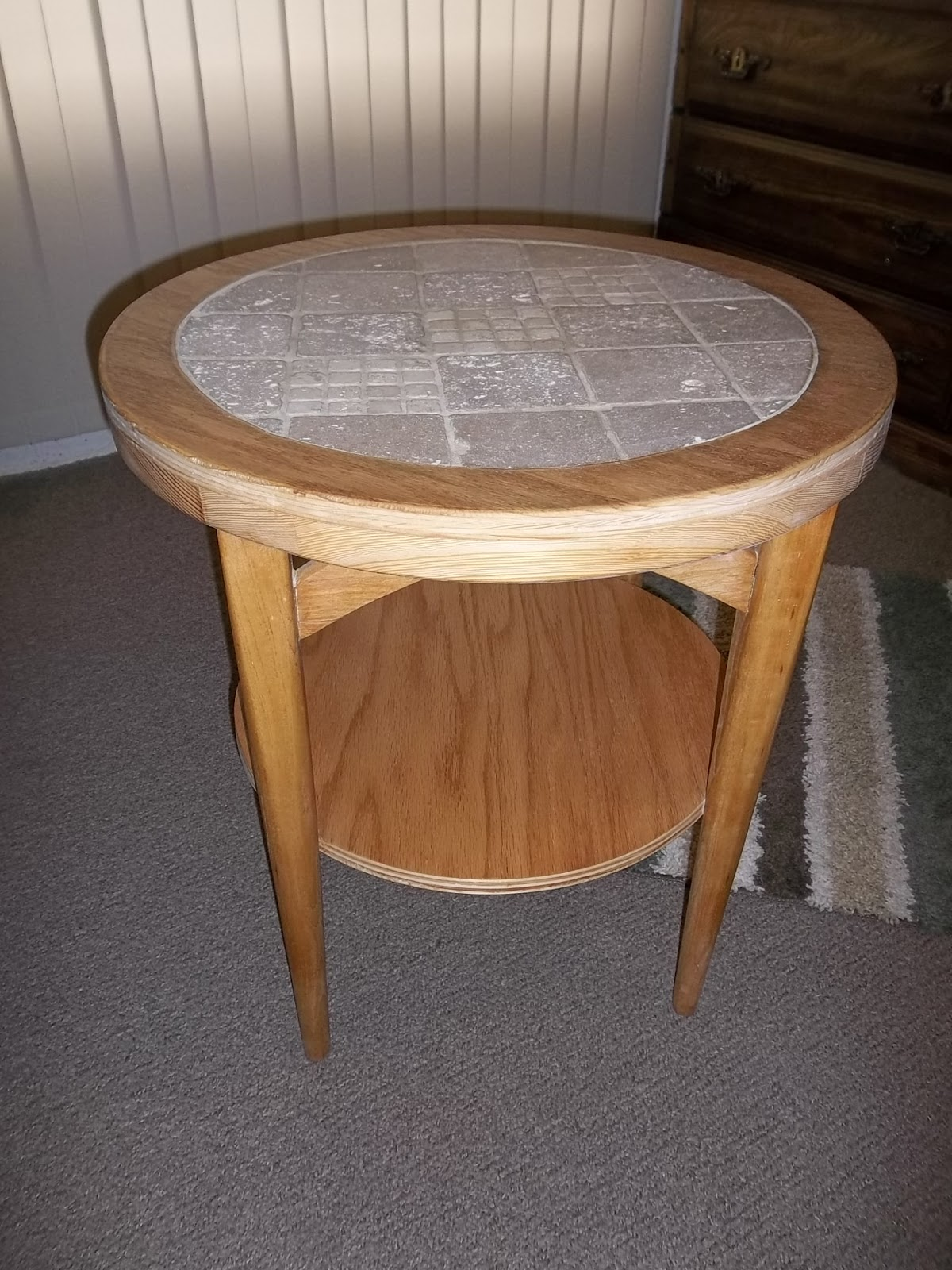 Re Claimed Round Oak End Table $159. SOLD F.O.B. The Dalles, Oregon