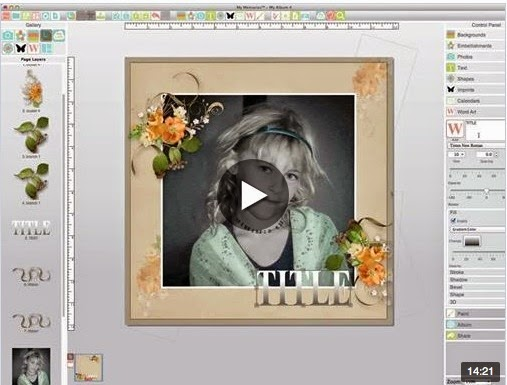 My Memories Video Tutorial on Templates