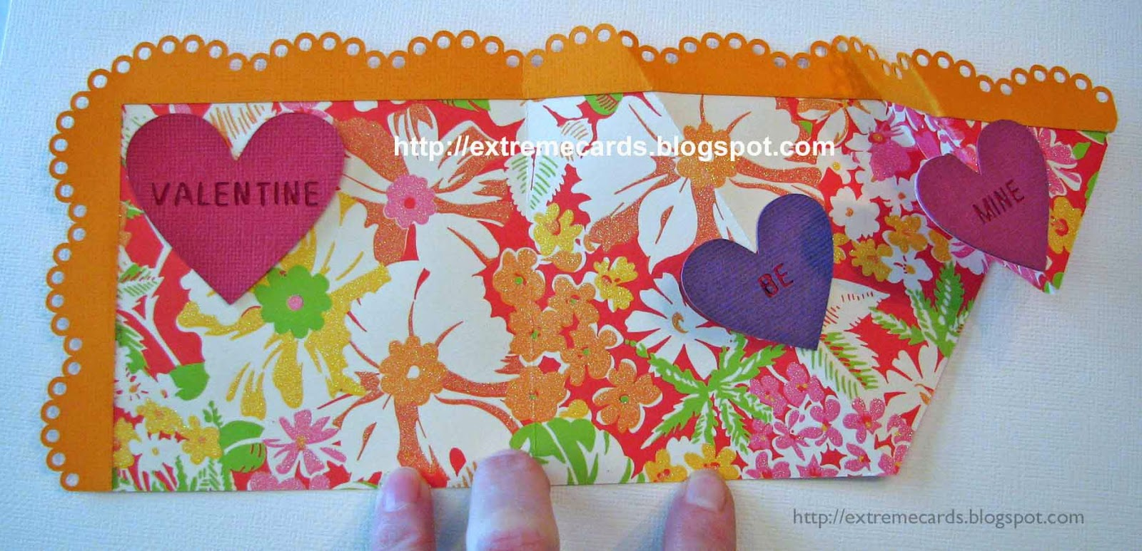 place large heart on pop up card