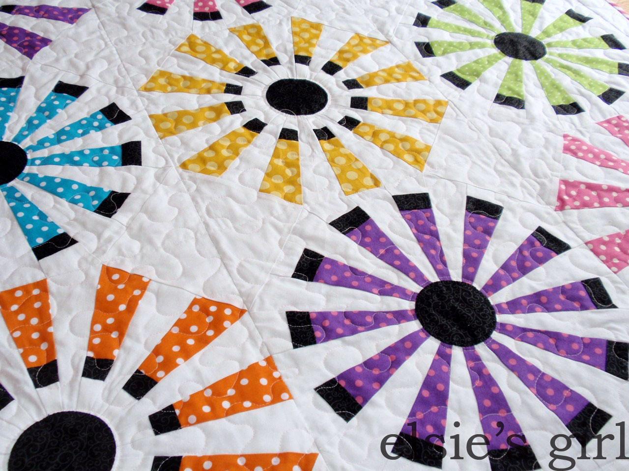 elsie's girl: Polka Dot Sunburst Baby : polka dot quilt pattern - Adamdwight.com