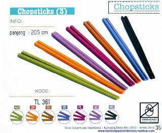 Info & Harga Twin Tulip Tulipware 2014 : Chopsticks - sumpit