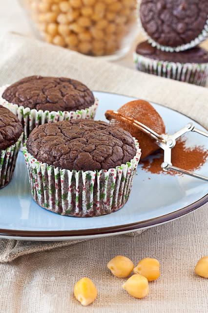 Čokoladni mafini sa leblebijom bez glutena
