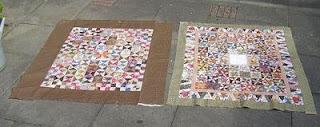 2 kanten van de antieke nederlandse quilt