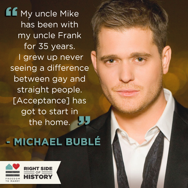 from Layne michael buble is gay