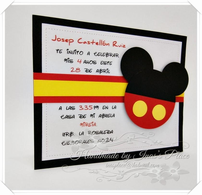 Catálogo Ina's Place Cards & Crafts: Invitación Cumpleaños ...