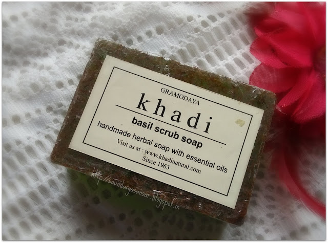 Khadi Basil Scrub Soap Review