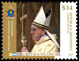 Sello postal de S. S. Francisco de $14