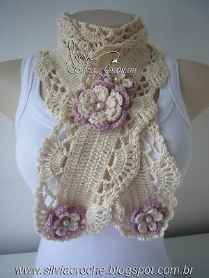 moda croche, croche, crochet, cachecol de croche, croche cachecol, scarf, croche para venda