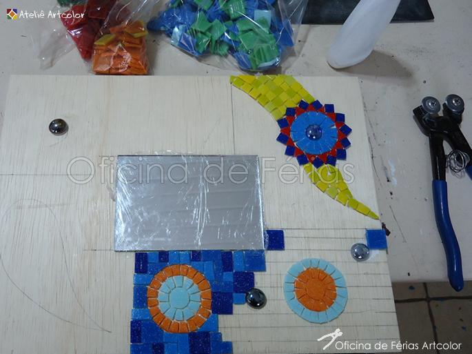 Aparador Com Gavetas Branco ~ Mosaicos Joe& Romio Oficina de Férias Espelho Patch