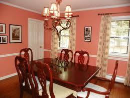 Best Home Decorating Ideas Peach Diningroom Design