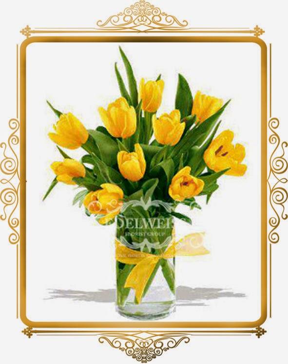 jual bunga tulip di jakarta, toko bunga, rangkaian bunga tulip