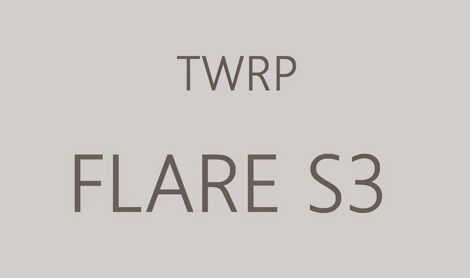Cherry Mobile Flare S3 TWRP