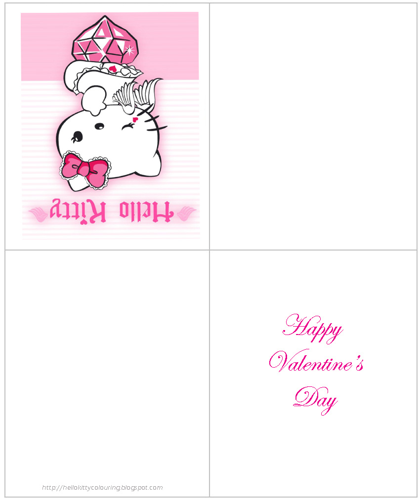 HELLO KITTY COLORING PAGES – Hello Kitty Printable Birthday Card