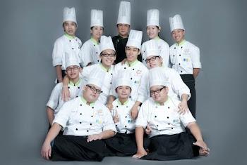 第五届一年烘焙专业技术班学生合照
